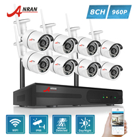ANRAN P2P Plug Play 960P 8CH NVR WIFI Kit 36 IR Outdoor 1 3 MP Wireless