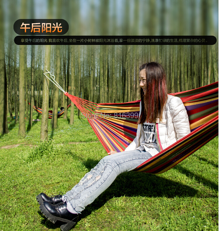 free shipping New Huge Double Cotton Fabric Hammock Air Chair Hanging Swinging Camping Outdoor Red стоимость