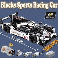 1589 pcs Compatible with Lego Technic MOC 4789 RC Sports Racing Car Mechanical Power Model building blocks bricks toys