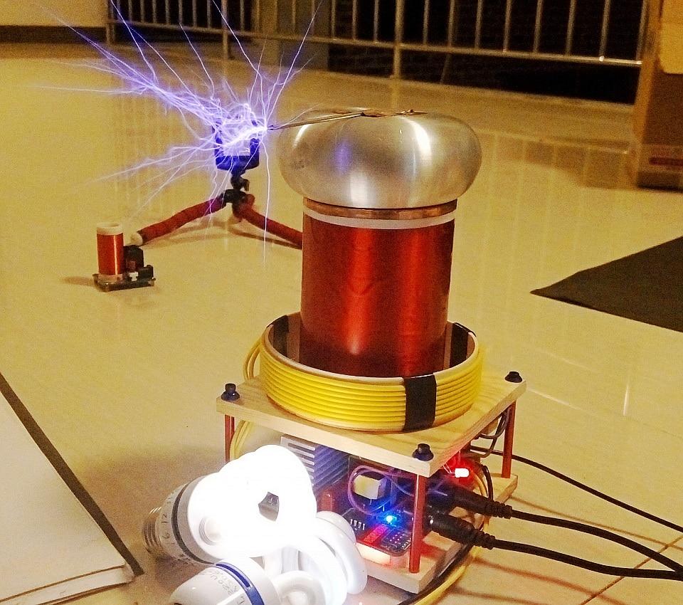 Mini Tiny SSTC tesla coil Assembled support MIDI Music arc extinguishing Lightning spark generator цена и фото