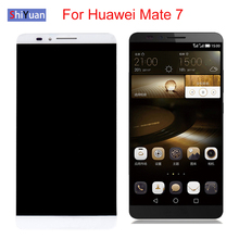 6.0 inch LCD Display For Huawei Mate 7 MT7 Touch Screen For Huawei Mate7 Display Touch Screen Replacement Black White Gold replacement new lcd display touch screen assembly for huawei mediapad t2 7 0 lte bgo dl09 black 7 inch