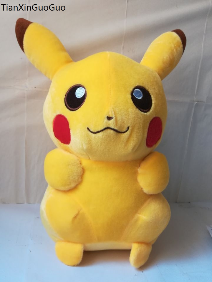 stuffed plush toy large 45 cm lovely pikachu plush toy soft doll throw pillow Christmas gift b1437 купить