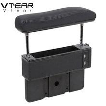 Универсальный автомобильный регулируемый подлокотник для увеличения подлокотника с центральным подъемом с поддержкой локтя с usb-зарядным отверстием для салона автомобиля-аксессуары для укладки
