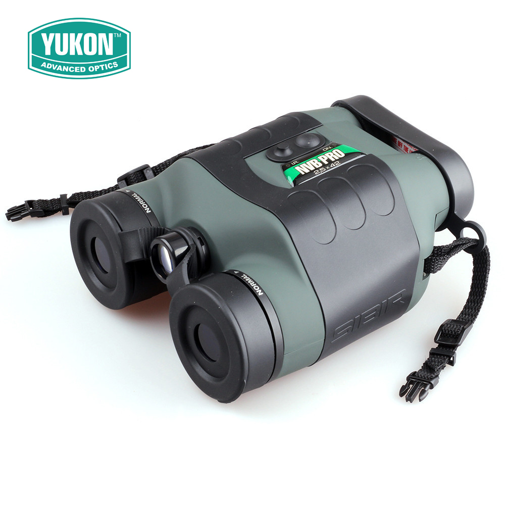 Yukon NVB 2.5x42 Pro Tactical Infrared Night Vision Binoculars Scope For Night Hunting yukon nvb tracker rx 3 5x40 night vision hunting nightvision binocular binoculars optical sight riflescope with doubler