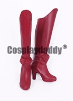 Juushinki Pandora Quinny You Anime Cosplay Red Boots Shoes S008