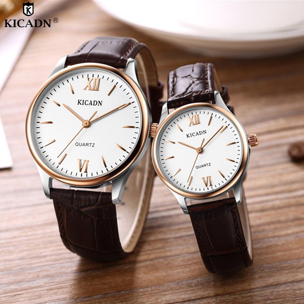 2018 Men Watches Women Classic Quartz Couple Watch Ladies Man Dear Lover Wristwatch Stylish Leather Strap Casual Watch For Gifts женское платье dear lover 2015 vestido estampado lc21127