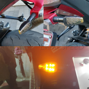 Universal Flasher Motorcycle LED Turn Signals Indicator Triangle DRL Blinker Rear Lights Signal Lamp For Honda shadow 750 600