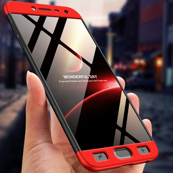 GKK For Samsung Galaxy J4 J6 J8 2018 Case 360 Full Body Protection Anti-knock 3 in 1 Hard Hybrid PC Cover For Samsung J7 DUO Max iphone 6