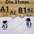 En Forma de corazón 31*27mm/Ronda 31mm moderno perilla de la manija de Aleación de Zinc en forma de corazón de un solo orificio de Cocina gabinete perilla Manija de Los Muebles