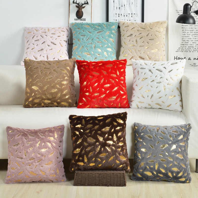 Fur Cushion Cover Pillowcases Solid