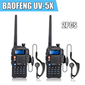 2pcs/lot BAOFENG UV-5X W/ Original Main Board Upgraded Version of UV-5R UV5R UHF+VHF Dual Band Two-Way Radio Walkie Talkie