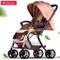 Carrinho de bebê Luz Peso 6.5Kg Uma Mão-de Dobradura Alta Paisagem Carrinho De Bebê Transporte Infantil Portátil 8-Wheels Choque Eva-absorção Pneu