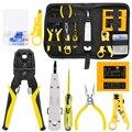 Handskit RJ45 RJ11 RJ12 CAT5 CAT5e набор инструментов для ремонта сети с Utp Кабельный тестер пружинный обжимной инструмент обжимные плоскогубцы