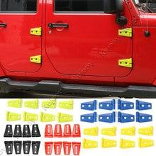 6 Colors ABS Car Exterior Door Hinge Covers Trim Sticker for 2Doors / 4 Doors Jeep Wrangler 2007-2016 Car Styling Accessories