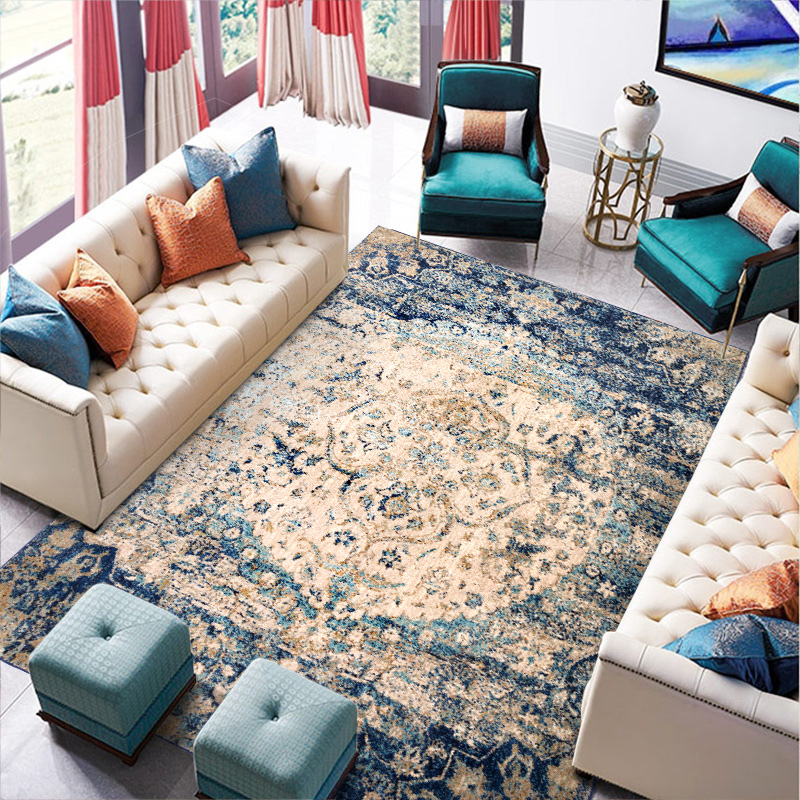 Morocco Living Room Carpet American Bedroom Carpet Home Decor Sofa Rug Coffee Table Floor Mat Study Vintage Persian Area Rugs