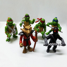 2016 New Toys 6Pcs/lot TMNT Teenage Mutant Ninja Turtles PVC Action Figures Toy Classic Collection Model For Kids Boys m138