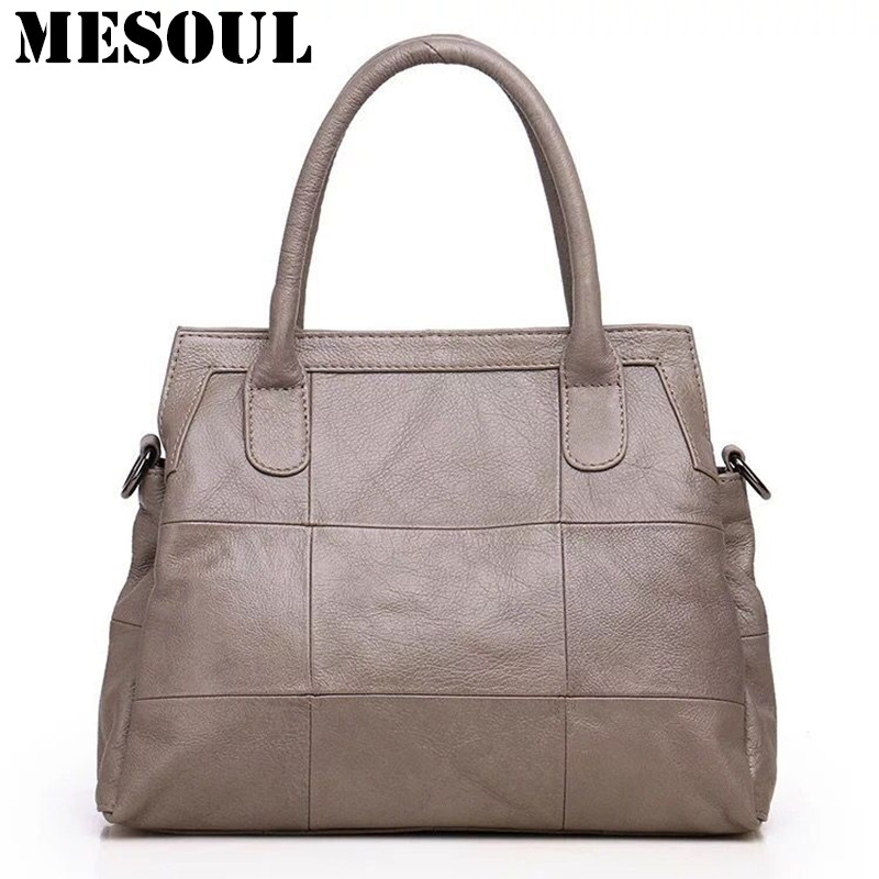 Brand Casual Tote Female Office Bag High Quality Crossbody Bags For Mom  Birthday Gift Genuine Leather Shoulder Bag Women Handbag c10ad4090f