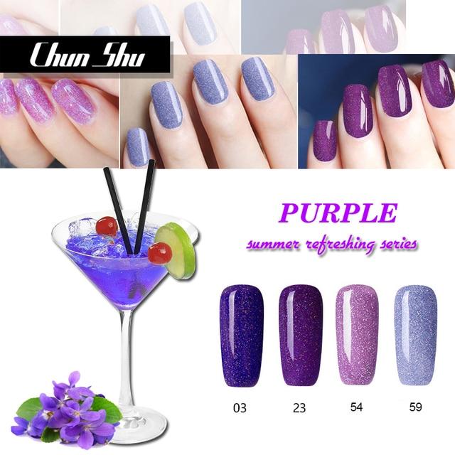 NEW Summer Refreshing Purple Series Neon Nail Polish UV Gel Off Colorful Colors Absorb Art