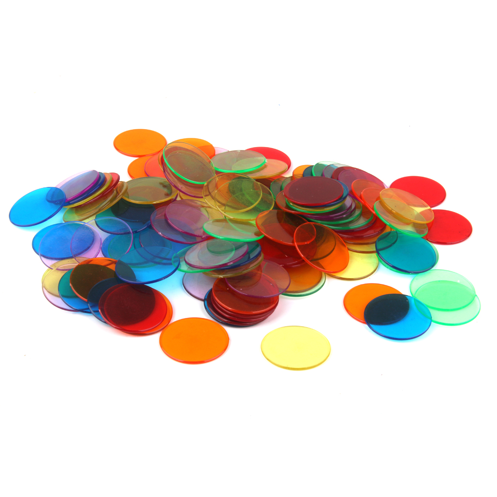 120pcs PRO Count Bingo Chips Markers for Bingo Game Cards 3cm 6 Colors Pocker Chips Fun Family Club Games Supplies Accessories