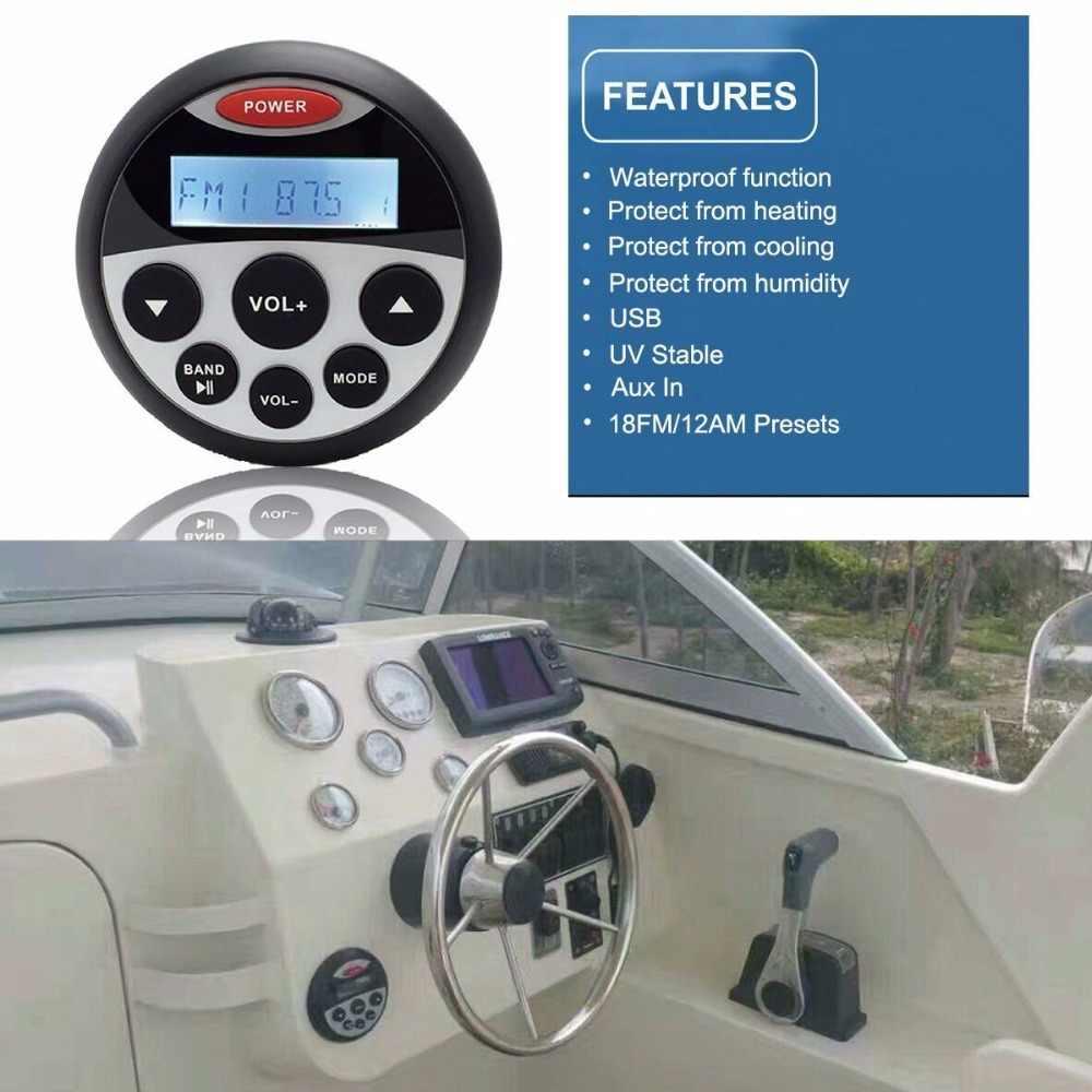 防水 Bluetooth マリンメディアステレオレシーバーオーディオ FM am オートバイ/ヨットボート/スパ · プール/ゴルフカート /UTV/で