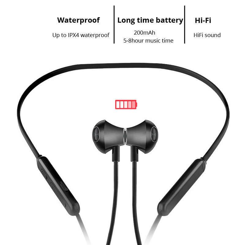 Беспроводные Bluetooth наушники, наушники BT 5,0, водонепроницаемые спортивные наушники, басовые стерео наушники с микрофоном для iPhone, Android, xiaomi