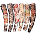 5 PCS new mixed 100%Nylon elastic Fake temporary tattoo sleeve designs body Arm stockings tatoo for cool men women Free shipping