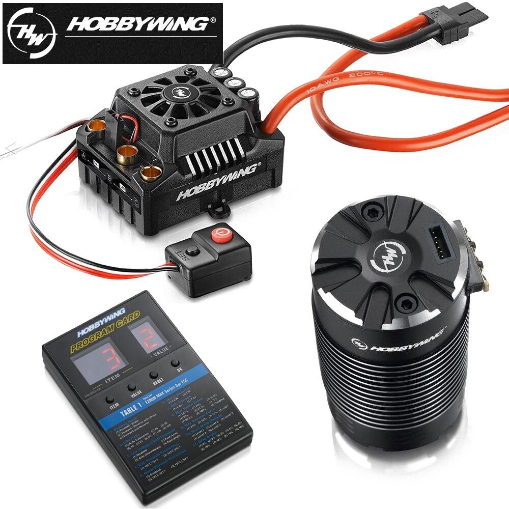 Hobbywing EzRun Max8 v3 150A étanche sans balais ESC T/TRX Plug + 4268 KV2600 moteur + LED carte de programmation pour 1/8 RC voiture camion