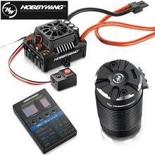 Hobbywing ezrun max8 v3 150a, à prova d água, sem escovas, esc t/trx, plugue + 4268 kv2600 motor + led, cartão de programação para caminhão de carro rc 1/8