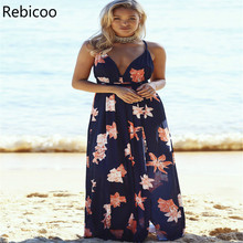 New Hot Sale Sexy Womens Floral Long Maxi Dress short Sleeve Evening Party Summer Sundress vestidos