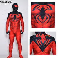 High Quality Scarlet Spider Costume Adult Comic Red Spiderman Costume Spandex Lycra Suit Custom Made Scarlet
