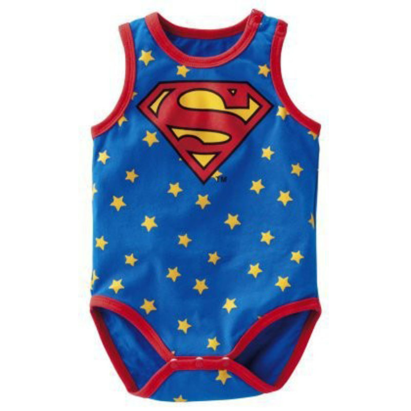 6 24Month High Quality Print Baby Boys Girls Bodysuits Sleeveless Cotton font b T shirt b