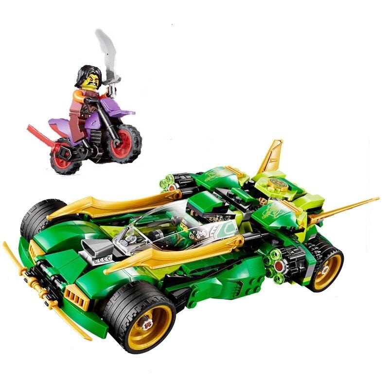 PIP GAMES 2018 Ninja Lloyds Car 425+ pcs DIY Building Block Sets Compatible Legoed Racing Cars Model Building Blocks Toy PGM005