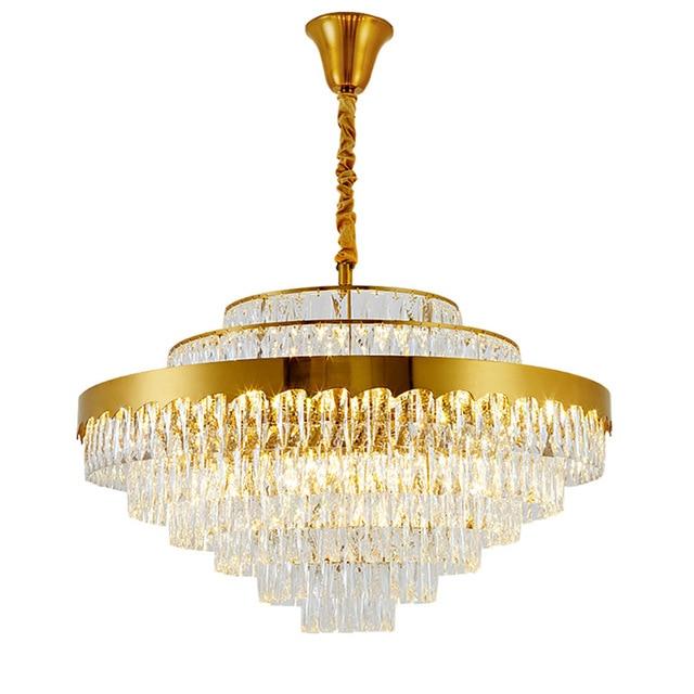 luxury design crystal chandelier lighting gold kroonluchter AC110V 220v lustre moderne living room lampluxury design crystal chandelier lighting gold kroonluchter AC110V 220v lustre moderne living room lamp