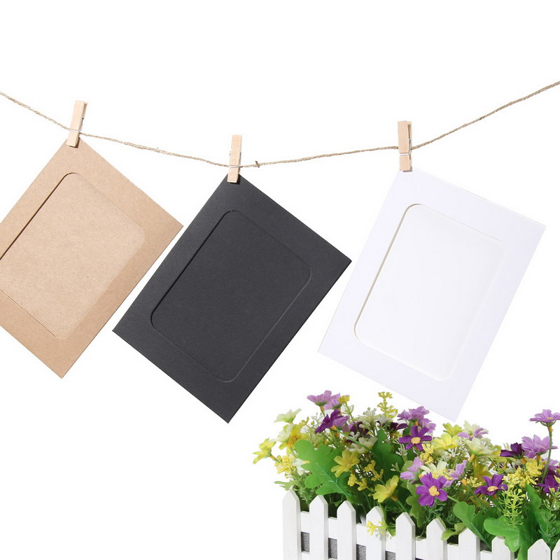 Wall Photo Frames with 10 Clips and Rope 1