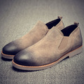2016 Мужчины Обувь Кожаные Ботинки Мужчины Квартиры Причинной мужская Мода Делового Дресс Обувь Марка Оксфорд Обувь Замши Повседневная обувь zapatos hombre