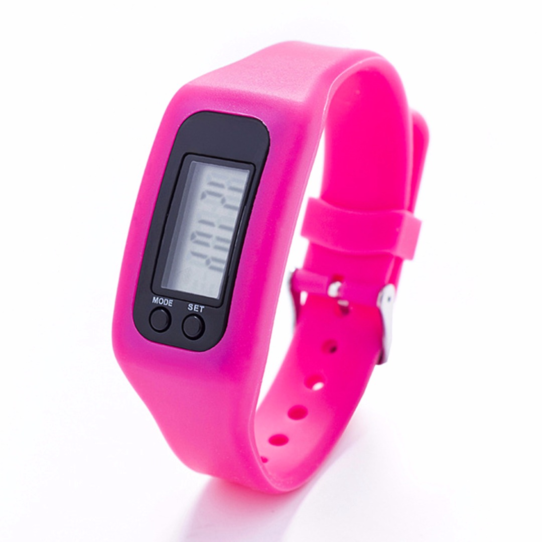 Mayitr Women And Men Run Step Wristband Bracelet Pedometer Calorie Counter Digital LCD Walking Distance Silicone Wrist Band