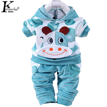 2018 Autumn Baby Boys Clothes Sets Cartoon Children Clothes Girls Sport Suit Long Sleeve T-shirt+Pants Cotton Kids Outfits Suits
