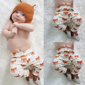 Fashion Baby Boys Girls Cotton Animal Printed Fox Bottom Trousers Harem Pants Leggings