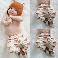 Moda Muchachas de Los Bebés de Algodón Impreso Animal Fox Inferior Pantalones Harem Pantalones Leggings