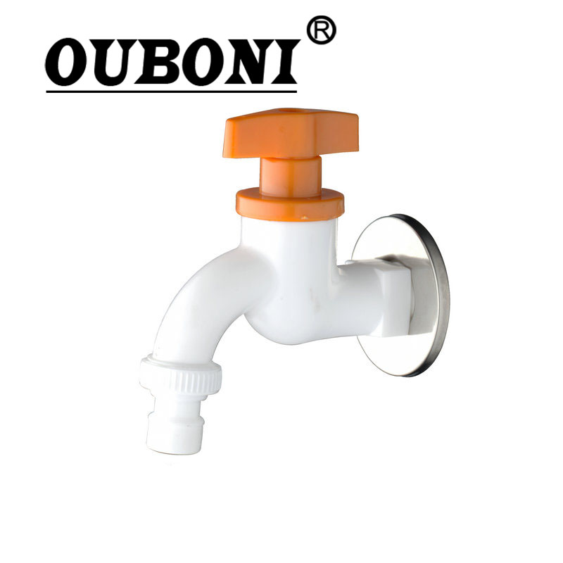 Shower Faucets Ouboni E-pak Bathroom/garden Tap Abs Washing Machine Faucet Wall Mount Torneira Basin Sink Faucets Taps Washer Faucet To Enjoy High Reputation In The International Market