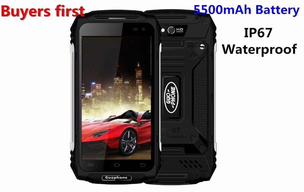 Original GUOPHONE X2 IP67 Waterproof Smartphone 1280 720 5 0 MTK6737 Quad Core RAM 2GB ROM