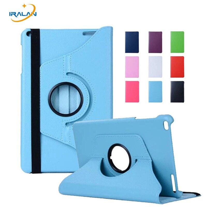 360 Rotating Folio Stand Housse En Cuir Pour Huawei Mediapad T1 10 T1-A21W T1-A23L 9.6 pouce Tablet PC Peau Shell + stylus stylo