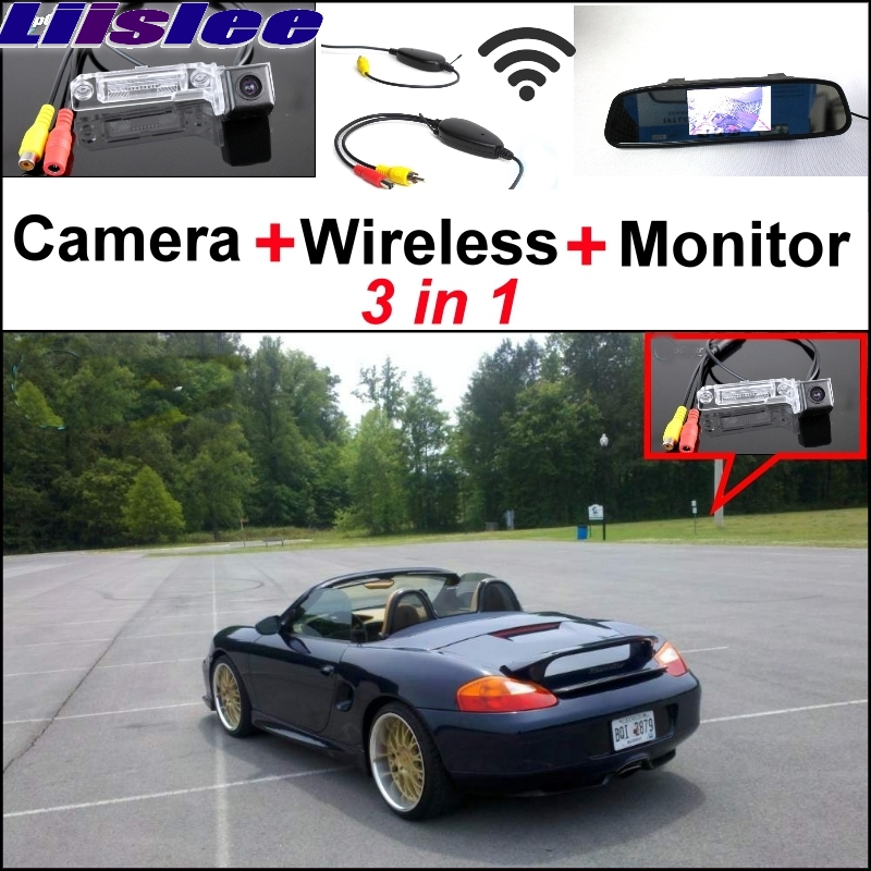 Liislee Special Rear View Camera + Wireless Receiver + Mirror Monitor  Back Up Parking System For Porsche 986 BOXSTER 1997~2004 new restaurant equipment wireless buzzer calling system 25pcs table bell with 4 waiter pager receiver