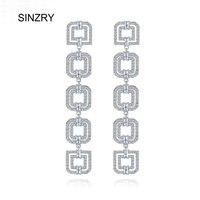 SINZRY Jewerly Clair blanc Cubique zircone balancent boucle d'oreille brillante géométrie gland Boucles D'oreilles pour les Femmes