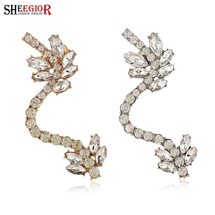 c6ab84e9cecd SHEEGIOR encantadora coreana pendientes de acrílico para Mujer Flor oído  Cuff Clip en pendientes moda joyería Bijoux Femme accesorios regalo