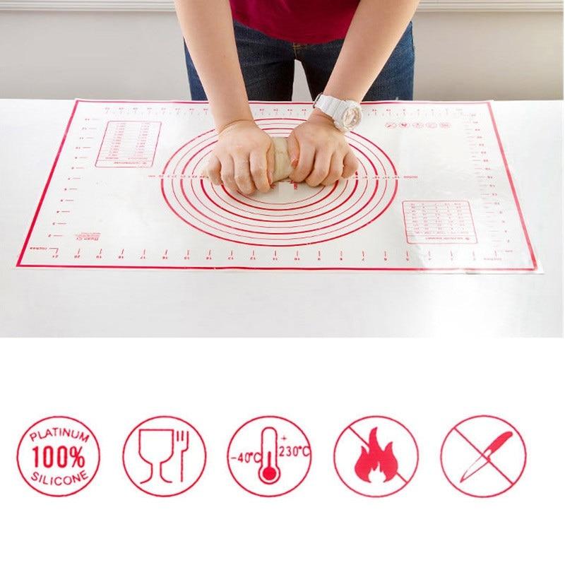 Stor Storlek Bageri Linjer Deg Silikon Bake Mat Non Stick