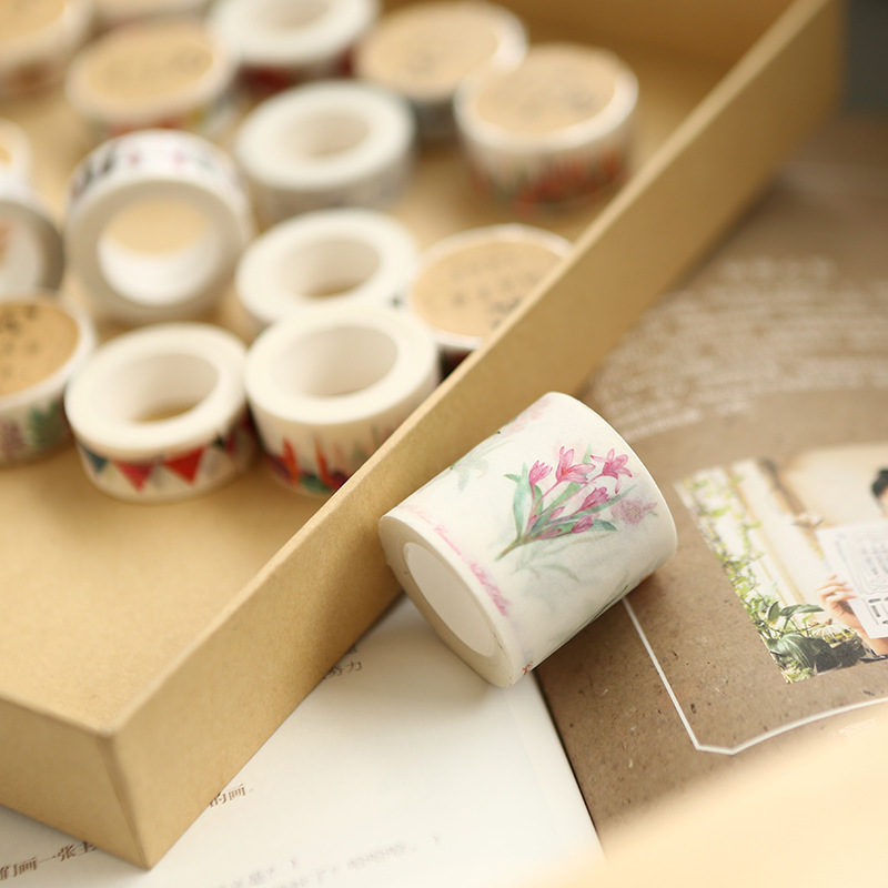 Creative Watercolor Music Note Cloud  Masking Washi Tape Decorative Adhesive Tape Diy Scrapbooking School Office Supply JD41