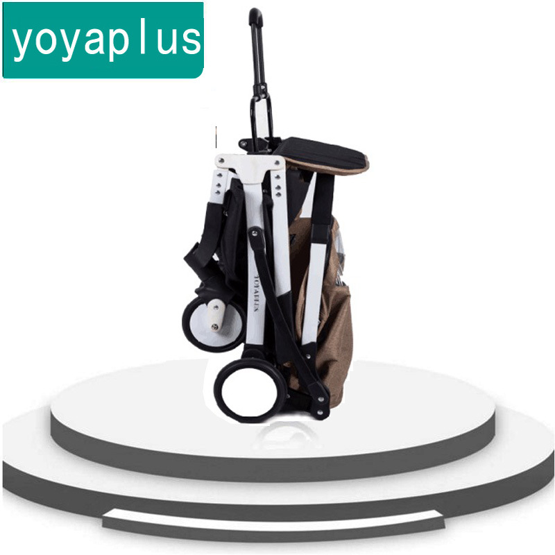 YOYAplus baby light trolley can be sitting on a folding cart the plane