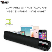 Portable Soundbar Wireless Bluetooth Speaker Stereo HIFI PC TV sound bar System 10W big power Column TF FM usb AUX loudspeaker