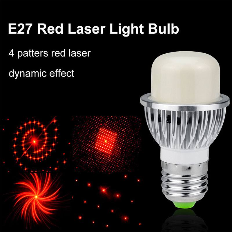 4 In 1 Mini E27 Smart Bulb Multi-Picture Stage Effect Light Laser Projector Stage Lamp KTV Disco Dj Party Decoration Stage Light